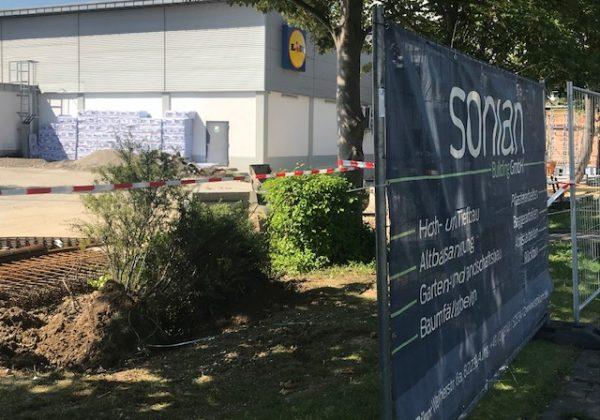 Erdbewegung LIDL-Grundstück in Germering